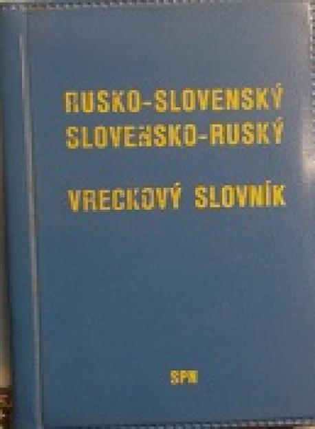 Rusko-slovenský,slovensko-ruský slovník