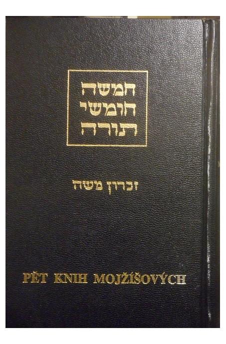 Pět knih Mojžíšových, hebrejsko-český preklad