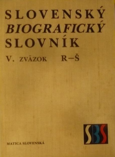 Slovenský biografický slovník 5 R - Š