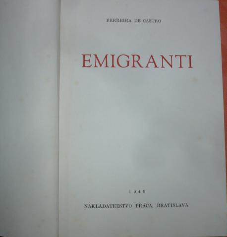 Emigranti /Castro/