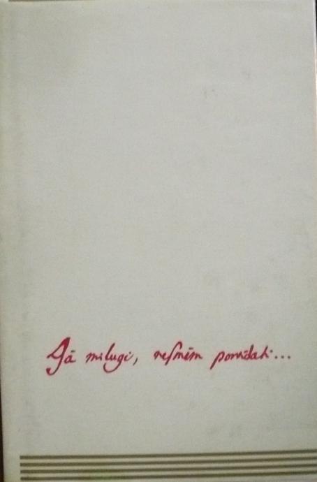 ZF Baroková poézia  Já miluji,nesmím povídati
